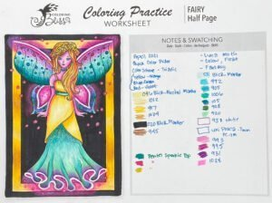 Mixed-Media Coloring - Lesson 1 - Fairy Notes