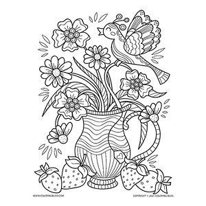 Bird on Flower Vase