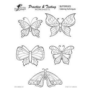 Practice Coloring Butterflies