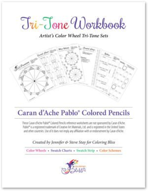 Caran d'Ache Pablo Colored Pencils Tri-Tone Workbook Cover
