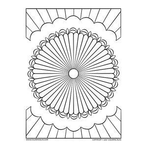 Simple Circular Mandala Design