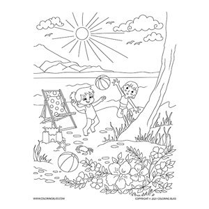 Summer Picnic - Children Playing
