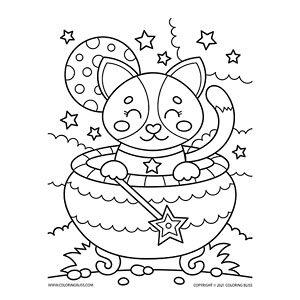 Cute Cauldron Cat