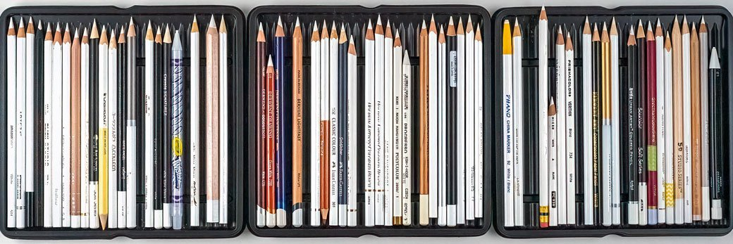 62 White Colored Pencils Tested