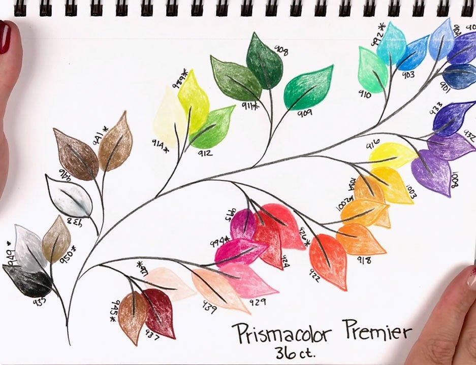 Prismacolor Premier 36 Set Swatches