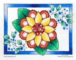 White Pencil Coloring - Flower Mandala